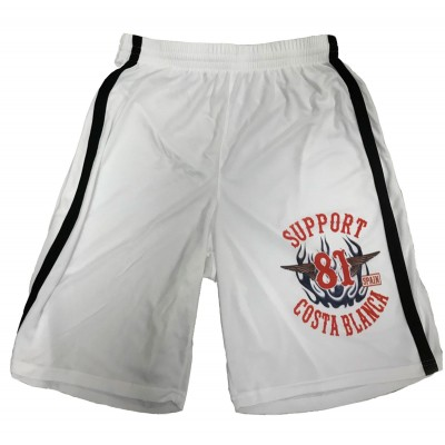 Support 81 Hells Angels Boxing Pantalón corto Biker white Quick-Dry