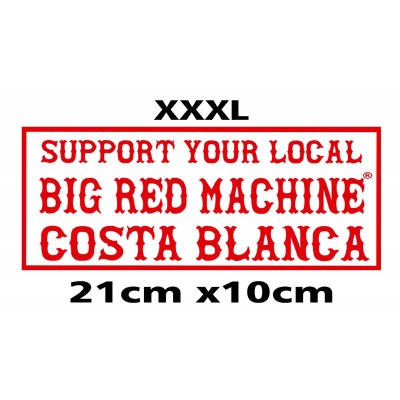 Hells Angels bumper sticker Support BRM Costa Blanca 10cm x 21cm (4´x8.3´)