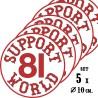 Hells Angels 5 adhesivos Support 81 World Round