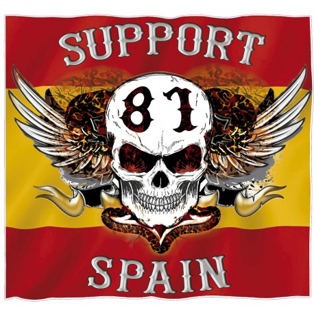 Hells Angels sticker Support 81 Spain Flag autocollant 9cm.
