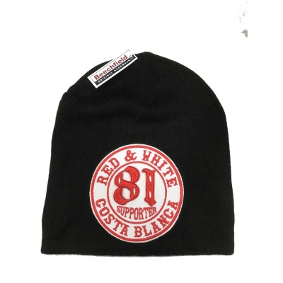Hells Angels Support 81 Biker Beanie Big Red Machine black with Patch Mütze