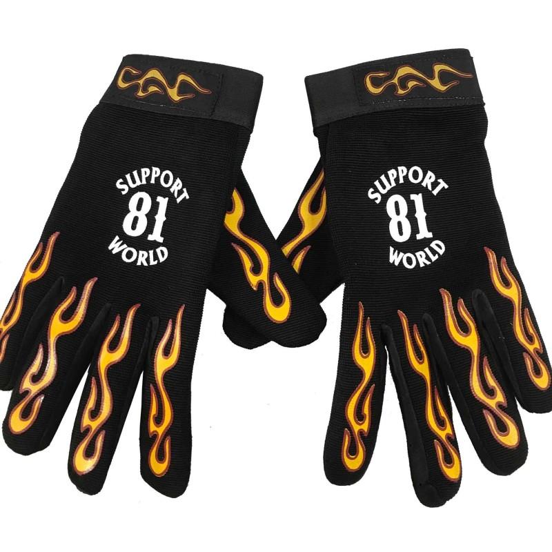 Guanti Support 81 Hells Angels flamed Gloves (Neopren) World