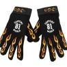 Gants Support 81 Hells Angels flamed Gloves (Neopren-PolyLeather) World