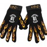 Hells Angels flamed Gloves (Neopren-Leather) Support 81 World