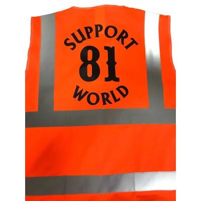 """Gilet """"Support81"""" alta visibilità multitasca con bande rifrangenti"""