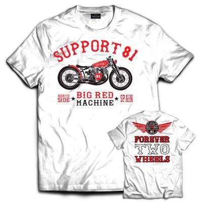 Hells Angels NorthSide Spain camiseta negra model 2 Front + Back side printed
