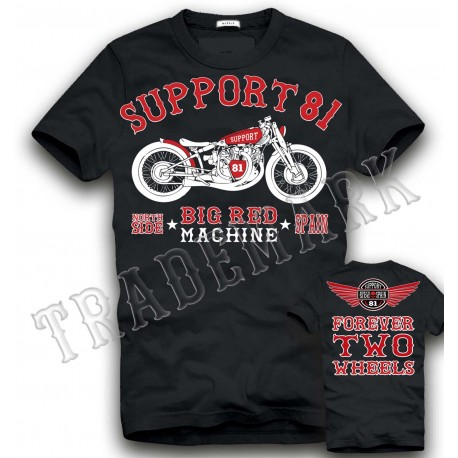 Hells Angels NorthSide Spain black T-Shirt model 2 Front + Back side printed