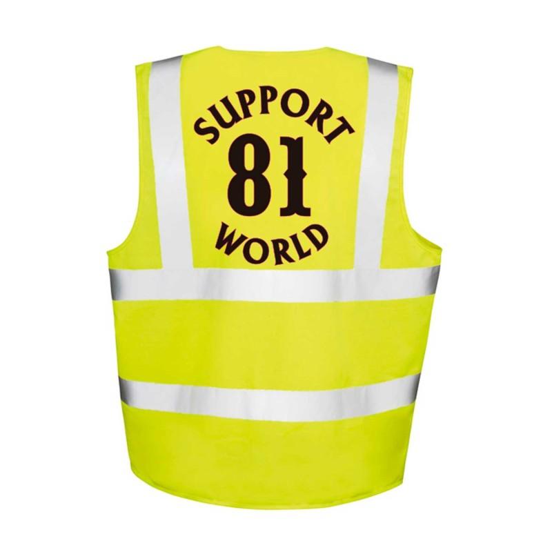 Hi-Vis Safety Zipped Vest Support81 Hells Angels