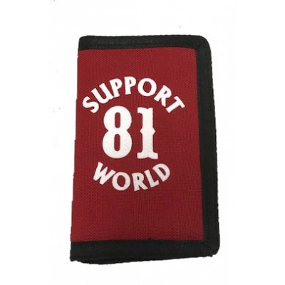 Hells Angels Support81 World Geldbeutel rot