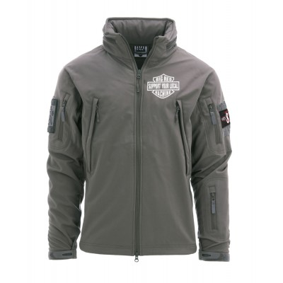 Hells Angels Support81 Big Red Machine SoftShell Jacket Gray