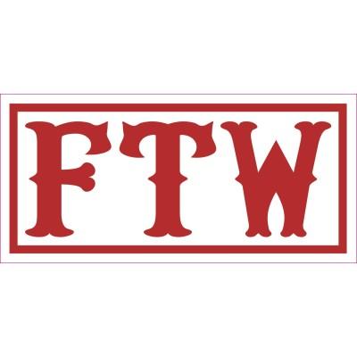 Hells Angels pegatina FTW 7,5cm x 3,5cm