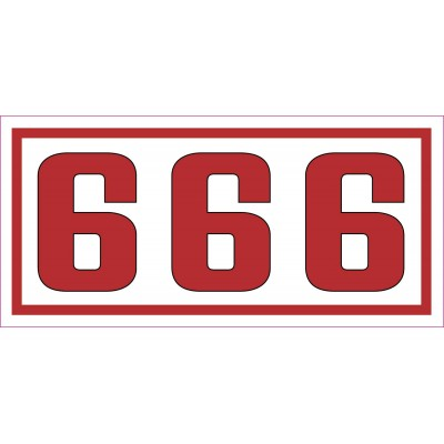Hells Angels autocollant Decal Support81 - 666 - 7,5cm x 3,5cm