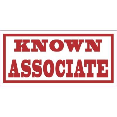 Hells Angels autocollant Decal KNOWN ASSOCIATE 7,5cm x 3,5cm