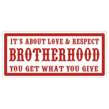 Hells Angels Support 81 sticker BROTHERHOOD 10x4cm.
