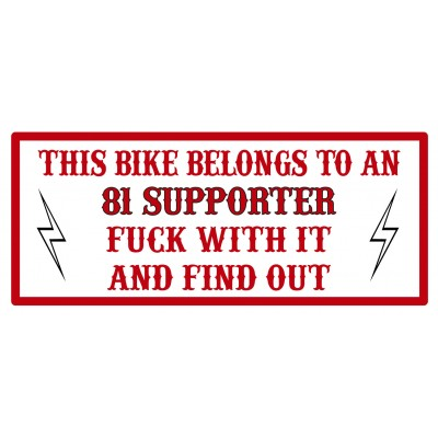 Hells Angels sticker Decal Support81 THIS BIKE 7,5cm x 3,5cm