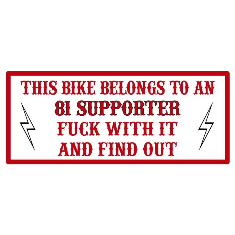 Hells Angels sticker Decal Support81 THIS BIKE 7,5cm x 3,5cm