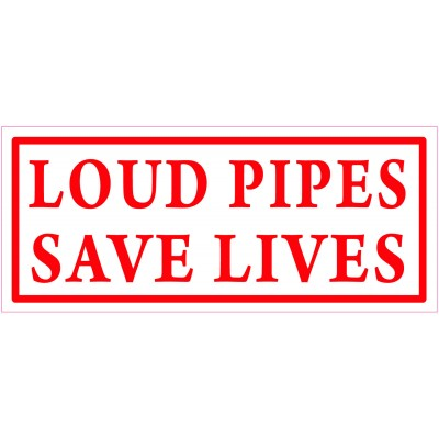Hells Angels aufkleber LOUD PIPES SAVE LIVES 9cm x 3,5cm