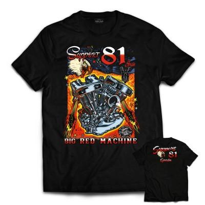 Hells Angels Big Red Machine Big Twin Support81 Camiseta