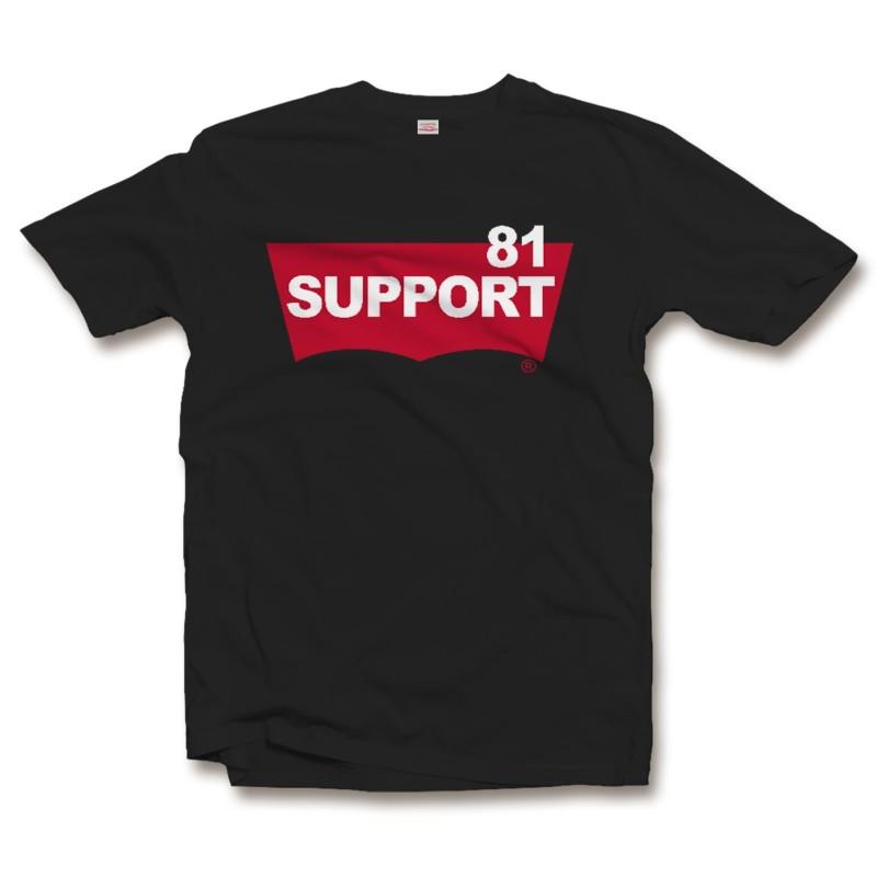 Hells Angels Support 81 Big Red Machine BatWing T-Shirt