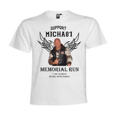 Memorial Micha81 Bianco T-Shirt Support81 Big Red Machine