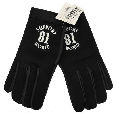 Gants Support 81 Hells Angels Gloves (Neopren-PolyLeather) World