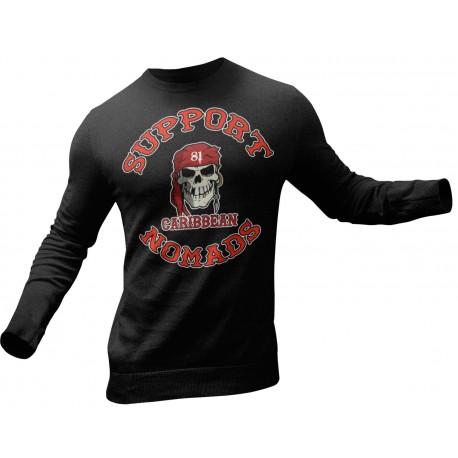 Hells Angels Guns Support81 Costa del Sol Sweater Black