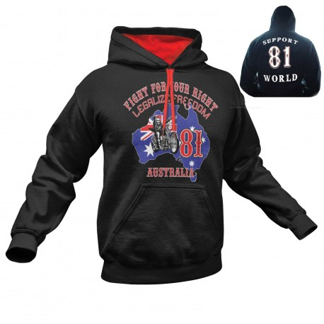 Hells Angels Australia BHC Freedom Support81 Hoodie black