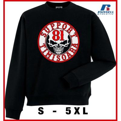 Hells Angels Timisoara Support81 sudadera negra