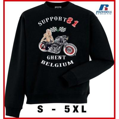 Hells Angels Ghent Belgium PinUp Support81 sudadera negra