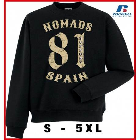 Hells Angels Nomads Spain 81vintage Support81 Black Sweater