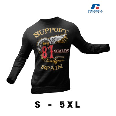 Hells Angels Nomads Spain Softail Support81 sudadera negra