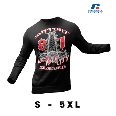 Hells Angels West Rock City Crest Support81 sudadera negra