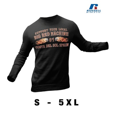 Hells Angels CDS Flamed Sculls Support81 Black Sweater