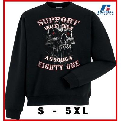 Hells Angels Andorra Slimey Skull Support81 sudadera negra