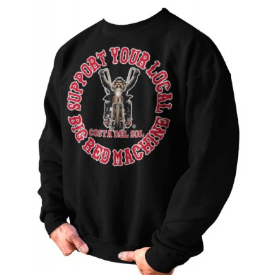 Hells Angels CDS Biker Support81 Big Red Machine sudadera negra