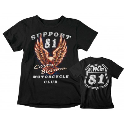 Hells Angels Support 81 Eagle Camiseta