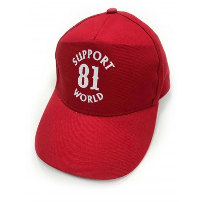 Hells Angels Support81 World baseball cap rosso