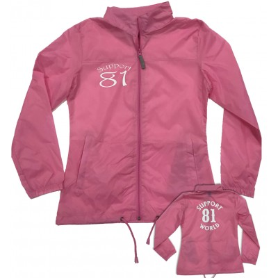 Ladies Support81 Big Red Machine Rain Jacket Windbreaker