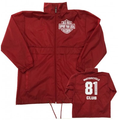 Hells Angels Support81 Big Red Machine Rain Jacket Windbreaker