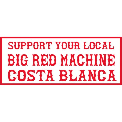 Hells Angels pegatina Support Big Red Machine Costa Blanca