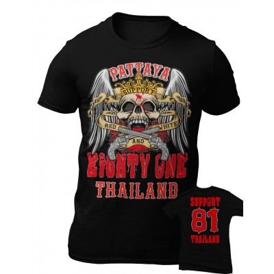 Hells Angels Thailand Support81 Crown Scull camiseta 6 Rocker 1%