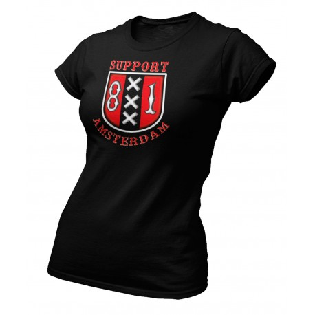 Hells Angels Amsterdam Holland Support 81 XXX Ladies T-Shirt