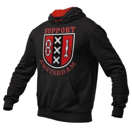 Hells Angels Amsterdam Holland Support 81 XXX Hoodie black