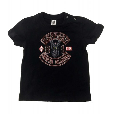 Baby camiseta Todler Support 81 Costa Blanca Hells Angels Unu