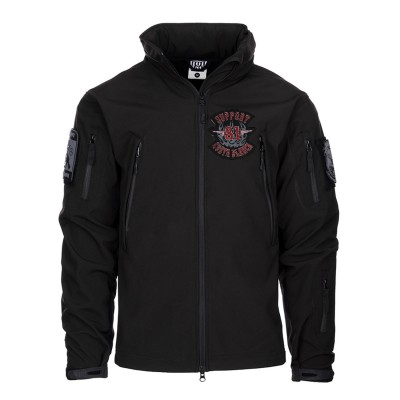 Hells Angels Support81 Big Red Machine SoftShell Jacket black embroidered