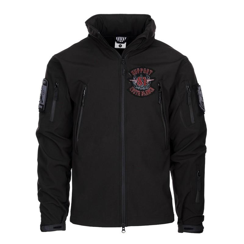 Hells Angels Support81 Big Red Machine SoftShell Jacket black GIACCA TATTICA SOFT SHELL
