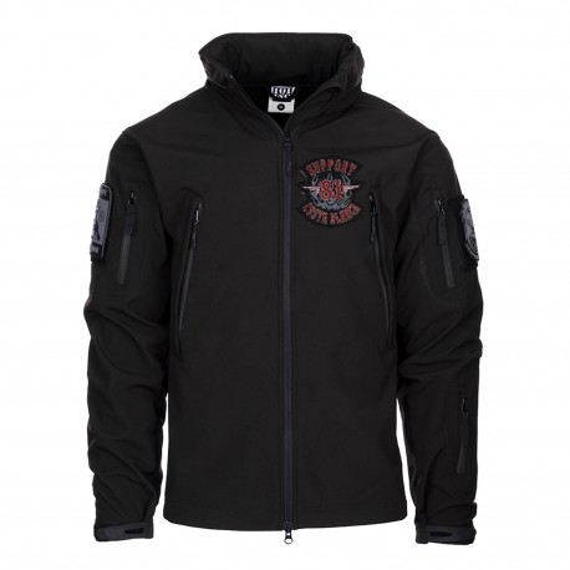 Hells Angels Support81 Big Red Machine SoftShell Jacket black