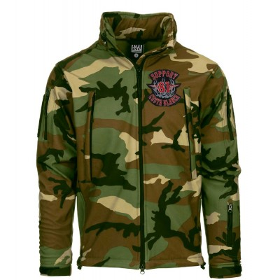 Hells Angels Support81 SoftShell Jacket camo embroidered Veste Tactique