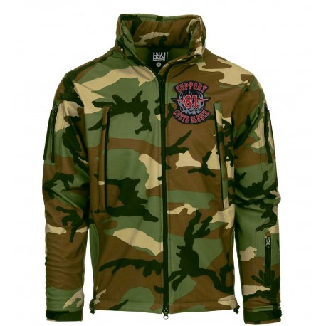 Hells Angels Support81 SoftShell Jacket camo embroidered GIACCA TATTICA SOFT SHELL