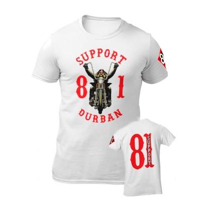 Hells Angels South Africa Durban Support 81 maglietta bianca
